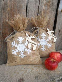 Christmas Gift Sack  Personalized Gift Bag Santa by ViViCreative