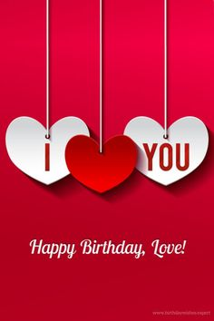 Happy birthday my love images quotes poems letters for him her.Happy birthday to my love wishes photos for husband wife girlfriend boyfriend.B-day love messages pictures. Happy Birthday Honey, Birthday Wishes For Love, Romantic Birthday Wishes, Birthday Wishes For Girlfriend, Birthday Wish For Husband, Happy Birthday Pictures, Happy Birthday Messages, Happy Birthday Greetings, Birthday Presents