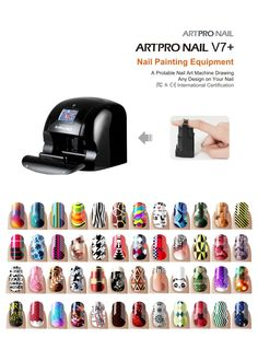 Nail Art can be as easy as A,B,C with Art Pro Nail Printer..