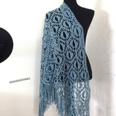 Knitted Poncho, Knitted Shawls, Crochet Scarves, Crochet Shawl, Bridal Shawl, Wedding Shawl, Crochet Wedding, Autumn Clothes, Lace Scarf
