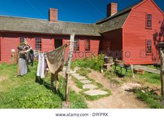Recreating Past Times At Old Sturbridge Village, A Museum Depicting Stock Photo, Picture And Royalty Free Image. Pic. 57510199
