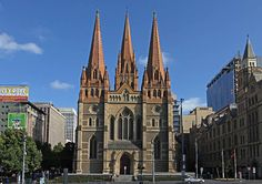 Saint Paul's Cathedral in City of Melbourne, Australia Melbourne Australia, Australia Travel, Hyde Park Sydney, Wonderful Places, Barcelona Cathedral, Places To Travel, Around The Worlds, Explore, City