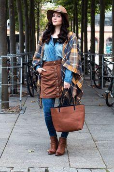 Kleidermaedchen.de, Outfit Review Dezember, Zalando, Clarks, adidas, COS, Topshop, Zara, River Island | Kleidermaedchen Modeblog, Fashionblog, Influencer, Social Media Influencer, Jessika Weisse Denim Style: cape - new look, hat - river island, shirt - H&M, skirt - river island, jeans - newlook, shoes - dressforless, bag - new look, lipstick kiko