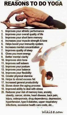Reden voor yoga