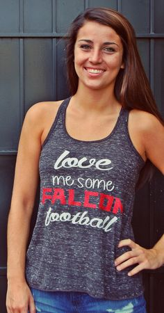 Love me Some Falcon Football Racerback by GameDayChicClothing