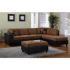 Venetian Worldwide Dallin Sectional Sofa - Saddle - Right Side