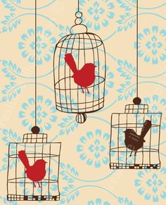 Birds in Birdcages