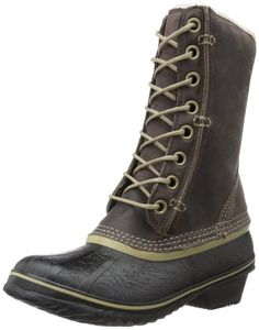 Sorel Women's Winter Fancy Lace Boot,Grizzly Bear/Black,9.5 M US Waterproof. Full-length fleece lining with 100g thermal insulation. Sorel blends chic and shiver-proof in this waterproof, insulated boot with a stylish fleece trim..  #Sorel #Shoes