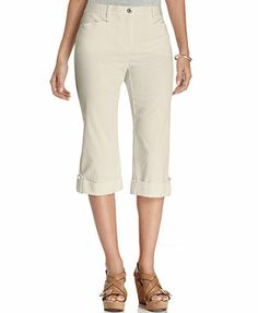 JM Collection Cuffed Capri Skimmer Pants