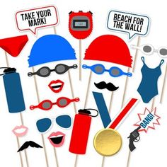 Photos Booth, Photo Booth Props, Swim Team Party, Swim Mom, Swim Team Mom, Pep Rally, Swim Caps, Team Photos, As You Like