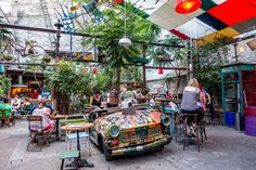 Hang out at the Trabant table at Szimpla, one of the most famous Budapest ruin pubs