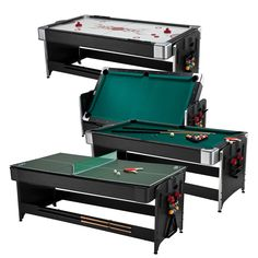 Have to have it. Fat Cat 7 ft. Black Pockey Table - Billiard, Air Hockey & Table Tennis - $938.1 @hayneedle