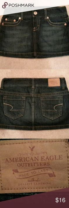 Reduced...American Eagle Denim Skirt American Eagle Denim skirt, 100% cotton, size 4, good condition. American Eagle Outfitters Skirts Mini