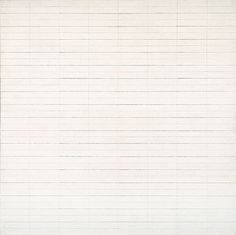 Untitled no.4 by American artist Agnes Martin. I love the subtility of her (almost) monochrome work.