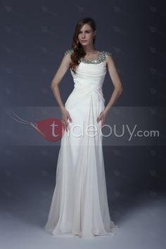 Delicated Beaded/Squins Column Scoop Floor-Length Alicja's Mother of the Bride Dress : Tidebuy.com