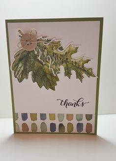 I really love the new Vintage Leaves stamp set.  I love the fall, it is my favorite season, so this was one of the first stamps that I bou...