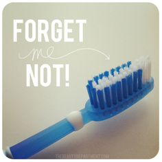 The toothbrush often comes in handy in the hair world-- smoothes fly aways!