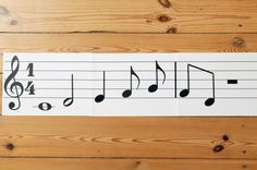 Montessori Music Notes by MontessoriHandmade on Etsy