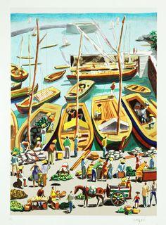 Carybé Mais Graffiti Painting, Painting Prints, Dream Pictures, 2d Art, Island Life, Love Art, Sketches, Wall Art, Illustration