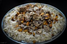 a traditional dish from especially Palestine Food, Baba Ganoush, Egyptian Food, Middle Eastern Recipes, Oatmeal, Cooking Recipes, Traditional, Breakfast, Confirmation