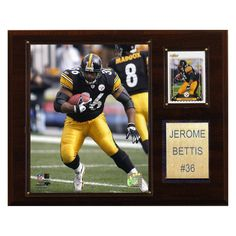 20bfcd27c16 NFL 12 x 15 in. Jerome Bettis Pittsburgh Steelers Player Plaque Pittsburgh  Steelers Players,