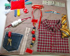 Masculine style (Flannel plaid shirt) Fidget, Sensory, Activity Quilt Blanket by TotallySewn on Etsy