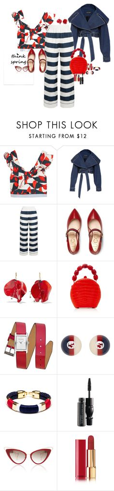 """Think Spring"" by claire86-c ❤ liked on Polyvore featuring Johanna Ortiz, Dolce&Gabbana, Gucci, Marni, Nancy Gonzalez, Rebecca Minkoff, MAC Cosmetics, Chanel and Kester Black"