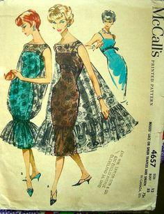 Vintage 50's Sewing Pattern 4657  COCKTAIL Empire by anne8865