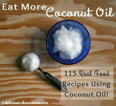 115 Real Food Recipes Using Coconut Oil! Thats 115 more reasons why you should do the Organic Fiji Coconut Cafe Challenge, to get a free jar of coconut oil! Check it out: www.organicfiji.com Recipe Using Coconut Oil, Coconut Recipes, Whole Food Recipes, Coconut Oil Uses, Healthy Snacks, Healthy Eating, Healthy Recipes, Healthy Cooking, Easy Recipes
