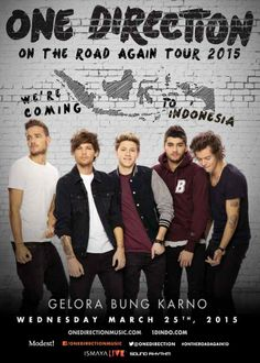 They're coming to Indonesia, and I'm just so happy :) Love you all Directioners!