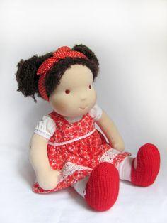 "14 ""(36 cm) Waldorf doll. Steiner doll-cloth doll-handmade doll-soft doll-waldorfpuppe-organic rag doll-girls gift-Christmas gift"