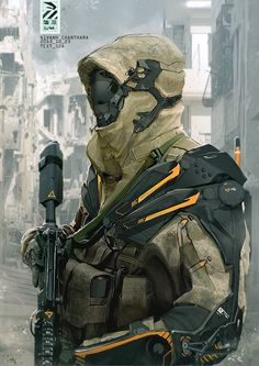 Future Military Armor Suits | Stunning Sci-Fi Military Cyborg Art