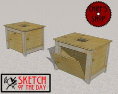 Sketch Of The Day: Benchtop Table Saw Stand