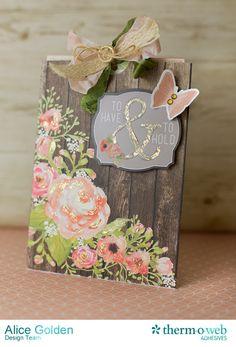 Distressed Foiling Wedding Gift Card Holder