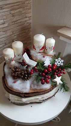New Collection Of Easy Christmas Decorations Sumcoco Christmas Ideas For Mum, Simple Christmas, Christmas Time, Merry Christmas, Holiday, Christmas Advent Wreath, Christmas Candle Decorations, Christmas Crafts, Christmas Nails