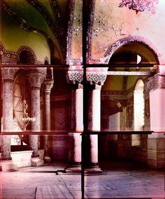 Ola Kolehmainen 'Hagia Sophia year 537 II, C type print Hagia Sophia, International Artist, Purple Rain, Graphic Design Art, Installation Art, Sculpture Art, Istanbul, Gallery, Illustration