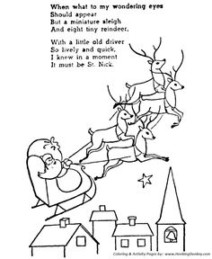 The Night Before Christmas Coloring pages While visions of
