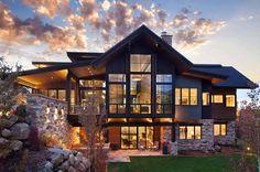 35 Popular Contemporary Home Design Exterior - architecture house Home Design, Modern House Design, Design Ideas, Design Design, Modern Mountain Home, Mountain Homes, Mountain Living, Mountain Home Plans, Style At Home
