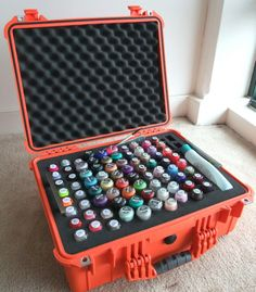 for the James Bond of manicures!  {omg this is so friggin awesome!} great traveling case!!