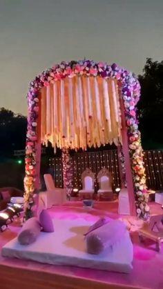 Wedding Hall Decorations, Desi Wedding Decor, Luxury Wedding Decor, Romantic Wedding Decor, Marriage Decoration, Wedding Mandap, Backdrop Wedding, Indian Wedding Video, Destination Wedding Decor