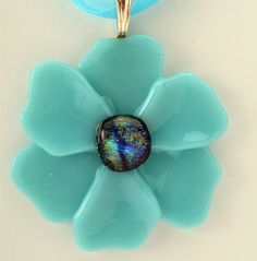 Poppy Pendant fused glass pendant your choice of by Artdefleur Fused Glass Ornaments, Fused Glass Jewelry, Fused Glass Art, Glass Pendants, Mosaic Glass, Flower Ornaments, Slumped Glass, Dichroic Glass, Blue Poppy