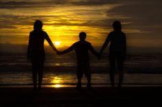 Silhouette at the beach.