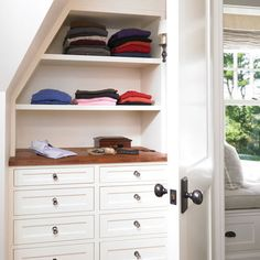 Closet Design, Pictures, Remodel, Decor and Ideas - page 11 great use of dead space