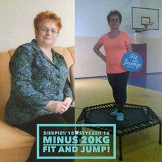 Pani Alinka z Fit and Jump Łowicz :D  #fitandjump #trampoliny #metamorfoza #odchudzanie #sport #cwiczenia