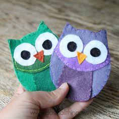 Felt Owl Coin Purse (with hidden closure)