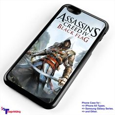 assassins creed Black Flag - Personalized iPhone 7 Case, iPhone 6/6S Plus, 5 5S SE, 7S Plus, Samsung Galaxy S5 S6 S7 S8 Case, and Other