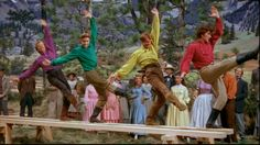 """Daniel, Ephraim, Caleb, & Frank show off their dance skills (""""Seven Brides For Seven Brothers"""") Classic Books, Classic Movies, Love Movie, Movie Tv, Good Old Movies, Awesome Movies, Theatre Nerds, Theater, Musical Theatre"""