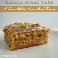 Banana Bread Cake & Brown Butter Frosting -