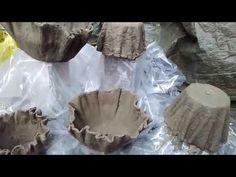 Blumentopf aus Beton und Tücher (Draped Cement Planters ) - YouTube