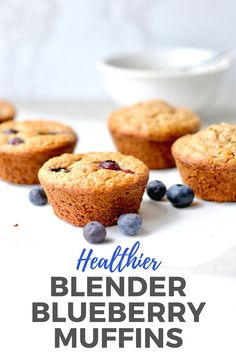 French Delicacies Essentials - Some Uncomplicated Strategies For Newbies Healthy Blueberry Blender Muffins That Are Gluten-Free, Dairy-Free And Have No Refined Flour Naturally Sweetened With Overripe Bananas And Made With Whole Grain Oats, These Healthier Healthy Dessert Recipes, Fruit Recipes, Muffin Recipes, Brunch Recipes, Baking Recipes, Delicious Desserts, Breakfast Recipes, Breakfast Ideas, Healthy Blueberry Muffins